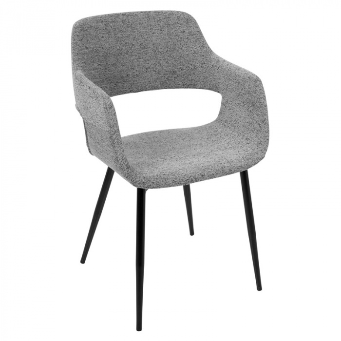 LexMod Veer Accent Chair, Black